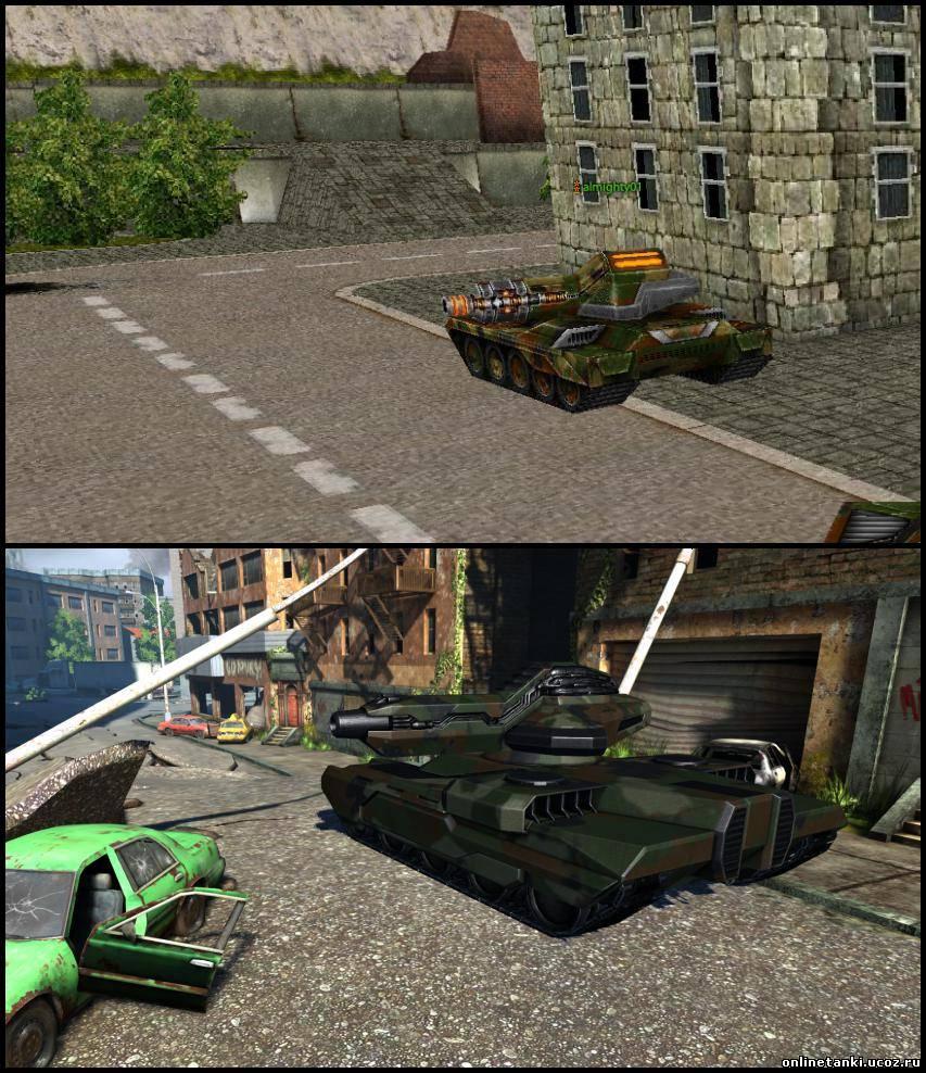 Сравнение танков из игры Танки онлайн с теми же танками в Танках онлайн 2.0.