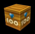 ящик с золотым кристаллом