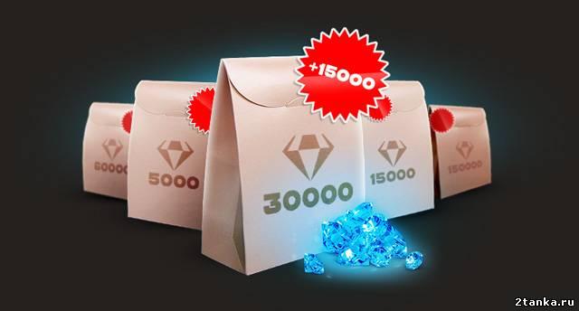 Бесплатные кристаллы в пакетах Танки онлайн