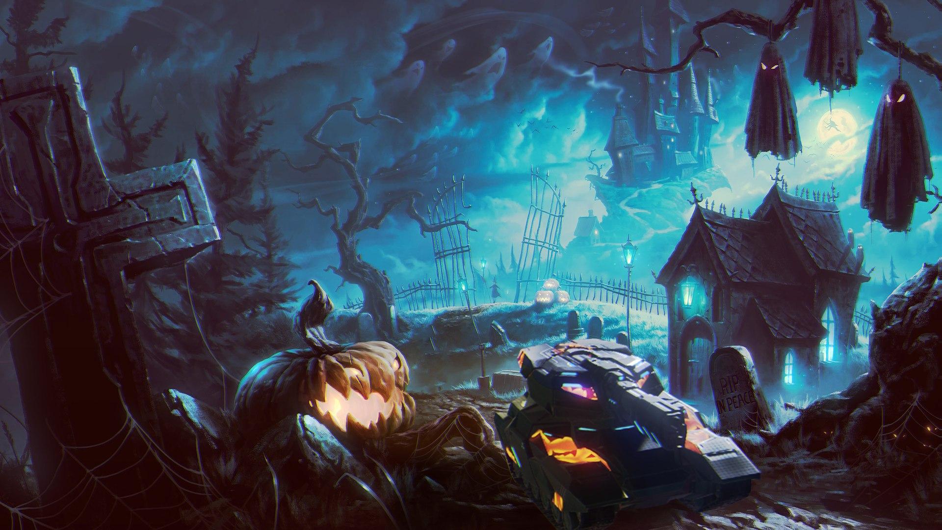 Хэллоуин в Танках онлайн